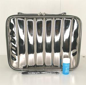 Lancome Chrome Makeup Train Case
